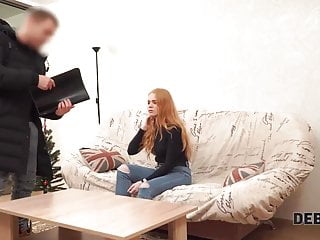 Tv sexy online - Debt4k. sweetie with sexy red hair agrees to pay for big tv