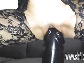 Cock gargantuan video Gargantuan dildo fucking amateur milf sarah
