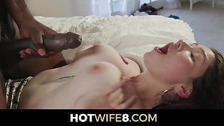Alyx Star Fucks Jax With Her Big Tits While Hubby Watches