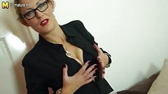 Dirty mother with hungry vagina