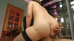 ROLEPLAY – Russian Granny Gets Fucked In Chair