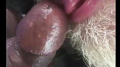 Son pissing dady mouth and cum