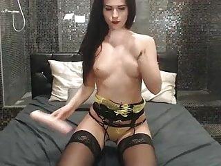 Mature in corset on webcam Svetlana starts with corset then masturbates until orgasm