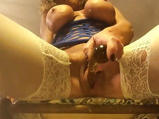 Fake titted porn Fake titted grand uses glass toy pov squirt on glass table