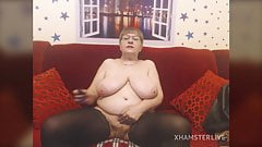 Granny SugarBoobs gets Naked