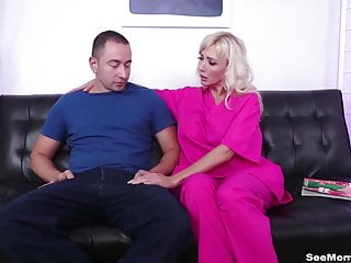 Sperm extraction after a vasectomy - Step mom sperm extraction - big boob milf