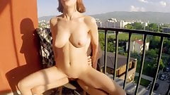 Sex on balcony with no shame