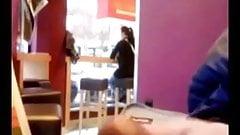 Caught Masturbating In A Coffee Shop
