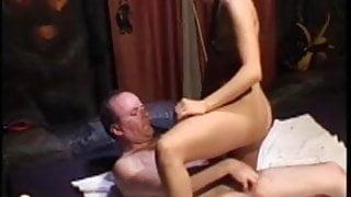 Escort Greta gets fucked by fat older guy