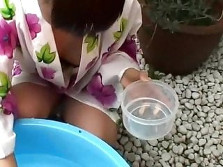 Asian garden conservatory - Japanese stepmom peeked in the garden