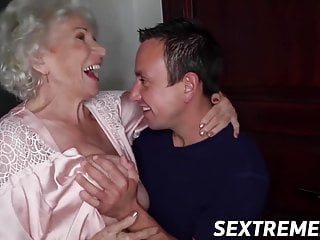 Extreme elder porn - Busty elder norma sucks cock before penetration