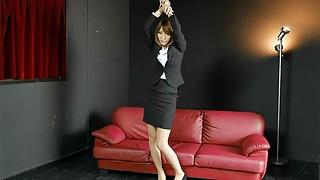 Japanese office lady Miina Minamoto came, uncensored