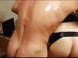 Eligant woman fucks Man and woman fucks crossdressers together 03
