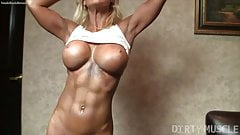 Blonde Female Muscle Woman Closeup Of Ass and Pussy