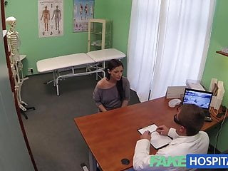 Female doctor jerks off patient Fakehospital hidden cameras catch female patient using massa