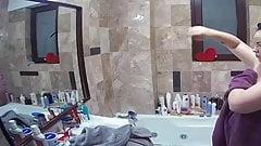 Curvy girl shower