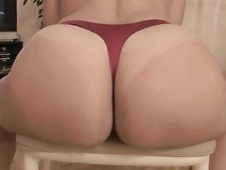 Hudson red thong bikini Big ass in red thong