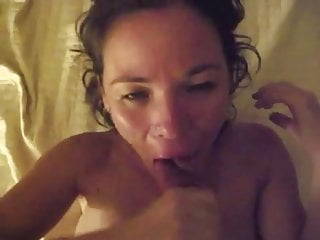 Cum facial mouthful Happy slut loves huge cum facial