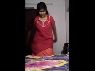 Boob and vigina Odia bhabhi stripping maxi showing boob and pussy