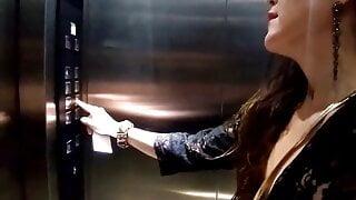 hot brunette dared by hotel staff