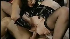 Pierced german MILF sluts fisted and fucked in the ass