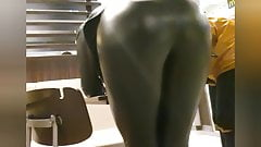 Sexy polish slut loves to show her big leather leggings ass