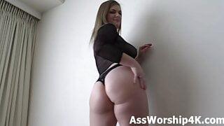 Dominated by Mistress Kendra Lynn's big ass