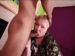 Asian anal bbw Big hungry oma gobbles up asian boytoy