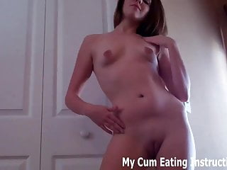Eat your own pussy If you jerk off to me you have to eat your own cum cei