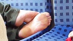 Teen soles in train