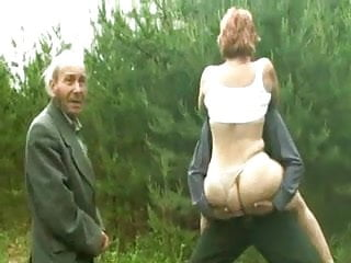 Young age sex - Group sex of women and men of all ages outdoors.
