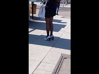 Leg picture sexy woman - 24 woman with sexy legs in mini skirt and black stockings