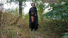 Lukerya in the forest