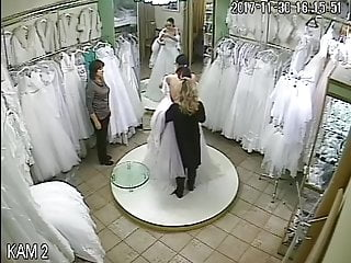Vintage style 1920s wedding dresses Spy camera in the salon of wedding dresses 1 sorry no sound