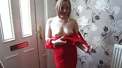 Shy Young Wife Red Dress