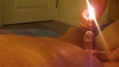 Kinky Kock Play For Farmer K.  Hot Wax For His Genitals.