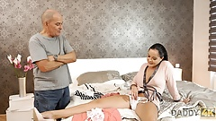 DADDY4K. Sweet thing Dolly Diore share a bed with boyfriend