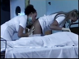 To have sex with the dead - Nurses have lesbian romp hot enough to wake the dead