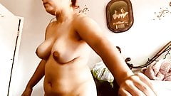 166. Cute girl playing with pussy in a sunny room
