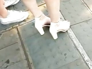 English mature ladies posing Candid feet --- classy english lady