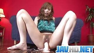 Japanese masturbation solo along nasty Meri Kanami