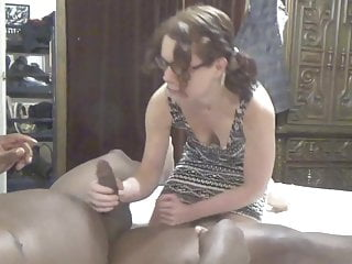 Squeezing a clit Nympho bbc cumslut gets fucked and sucks bbc squeezes cum in