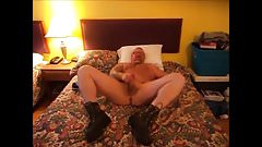 relaxing in motel after work