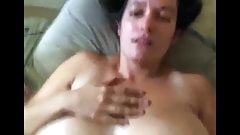 Wife with hairy pussy - homemade creampie