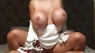 My big tits wife riding my friend and films to me watch late