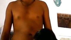 Indian girlfriend sucking dick