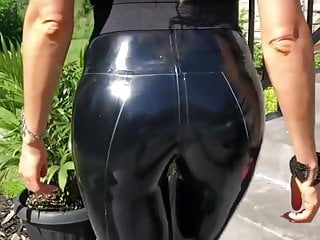 Krystal steel latex - Blonde girl latex steel heels