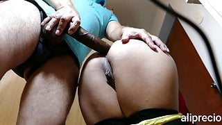 Hot Mistress Punishes Latina Mom's Ass With Two Huge Cocks