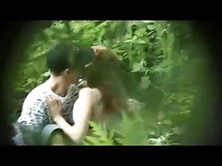 Guys sucking thier dick Redhead girl sucks guy dick in the woods, and then fucks him