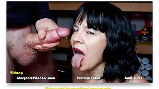 Hot Slut Wife Gets a Huge Slow Motion Facial Cum Shot!